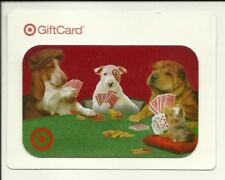 Target Gift Card Spot & Dogs Playing Poker No $ Value Collectible #0539 Fuzzy!