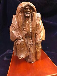 Japanese Monkey Wood carving of Kabuki character Master Ittobori Technique!