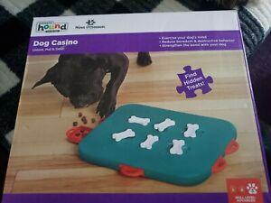"""OUTWARD HOUND 67334 Nina Ottosson Dog Casino Puzzle Game Large Blue 13"""" X 10.5""""."""