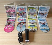 Wii U-SING + GLEE KARAOKE REVOLUTION 2 + WE-SING DOWNUNDER + WE SING +MICROPHONE