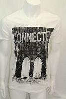 DKNY Jeans Men Tshirt  Graphic  White   Size Med  NWOT  V- Neck Short Sleeve