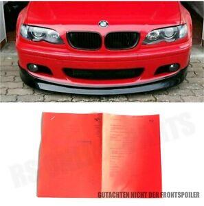 Gutachten Papiere für Spoilerlippe Cupline-Lip passend für BMW E46 M Paket 2