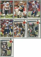 New England Patriots 7 card 2012 Topps Prime insert & GOLD lot-all different