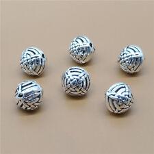 4 Sterling Silver Celtic Cross Beads 925 Silver for Bracelet