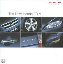 Honda FR-V UK Market Brochure July 2004 includes 1.7 V-TECH 2.0 iV-TECH models