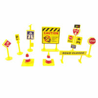 10Pcs/Set Kids/Baby Educational Plastic Construction Traffic Sign Toys Gift New