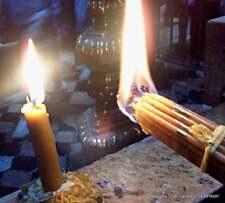 Green Bee Wax 33 Candles Blessed Holy Sepulchre Jerusalem  Eternal Fire 230 gram