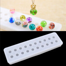 DIY Cube Beads Diamond Silicone Mould Jewelry Pendant Resin Craft Making Molds