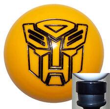 Transformers Autobot Yellow shift knob w/ black adapter kit fits new Dodge Dart
