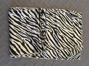 9 Zebra Print Satin Table Runners Wedding Event Occasion Linen 106 Inches Long