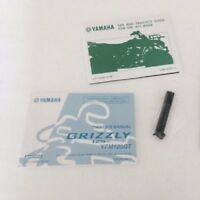 YAMAHA YFM125 GRIZZLY FACTORY OWNERS MANUAL & TIRE GAUGE GENUINE OEM