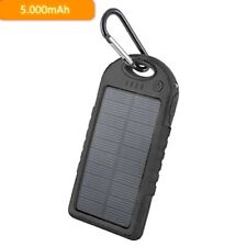 Solar Power Bank Wasserdicht 5000mAh Ladegerät für Motorola Moto G7 Power Play