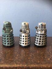 "3 x 6cm / 2.5"" DOCTOR WHO - Mini Daleks - BATTLE GREY / GREEN , SILVER & GREY!"