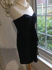 Paul Smith, Size 8 (40), 100% Silk, Black Corset Dress, RRP £400, BNWT