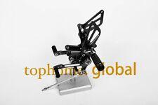 For Suzuki GSXR 1000/600/750 2001-2004 Black CNC Rearsets Foot pegs Rear set