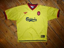 Liverpool FC Jersey + XL + 1997 Camiseta 2a Equipación+Reebok+Camiseta Maglia
