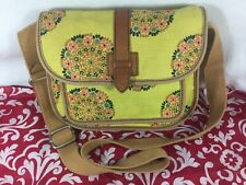 Vintage Fossil Auth Crossbody bag Shoulder bag Purse handbag Cotton Floral Print
