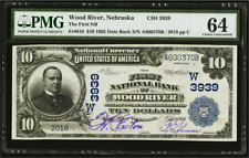 Wood River NE $10 1902 Date Back Fr. 618 CH# 3939 The First NB Wood River UNIQUE