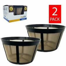(2) GoldTone Reusable Basket Coffee Filters for Bunn Coffee Makers and Machines