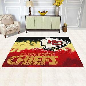 Kansas City Chiefs Rug Mordern Area Rug Home Decor Soft Flannel Carpet Floor Mat