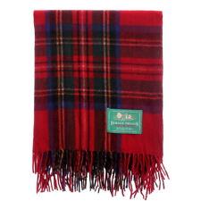 BORDER TWEEDS Knee Travel Rug Blanket Wool Tartan - Royal Stewart