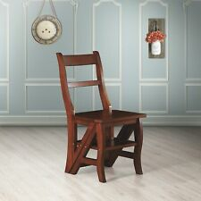 Carolina Cottage Franklin Wood Kitchen Dining Folding Chair 3-Step w/Back Ladder
