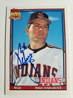 1991 Mike Hargrove Topps Traded Card Signed Indians Auto Autograph #52T