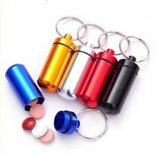 Portable Waterproof Keychain Capsule Cash Clip Stash Keyring Key Pill Case Box