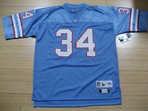 Earl Campbell XL Reebok Throwbacks Houston Oilers 1980 Replica NFL Jersey *NEW*