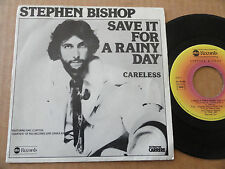 """DISQUE 45T DE STEPHEN BISHOP  """" SAVE IT FOR A RAINY DAY """""""