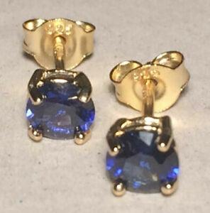 Earrings Topaz, London Blue, Swiss Blue, Sky Blue 5 & 6mm  Solid Silver Stamped