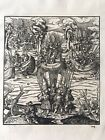Antique Print Hans Burgkmair The White King Plate 104