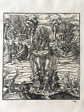 Antique Print Hans Burgkmair The White King Plate 104