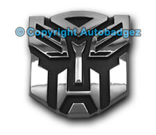 """1 - NEW CHROME Transformers AUTOBOT auto badge emblem (3"""" CHROME)"""