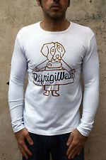 Refrigiwear para hombre de manga larga superior blanco Casuals Top Calce Ajustado Elástico Músculo XL
