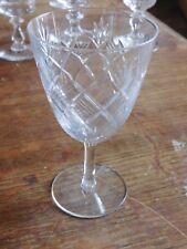 Bayel ancien verre cristal taillé signé