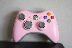 Pink Microsoft Xbox 360 Wireless Controller Gamepad OEM Authentic Tested
