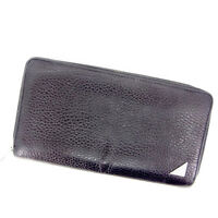 Dolce&Gabbana Wallet Purse Long Wallet Black Woman Authentic Used Y466