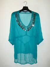Hips Sequin Casual V-Neck Tops & Shirts for Women