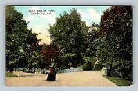 Richmond IN, Glen Miller Park, Vintage Indiana Postcard