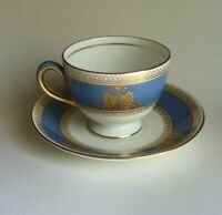 RARE WEDGEWOOD CHINA COLUMBIA POWDER BLUE CUP AND SAUCER MULTIPLE AVAILABLE