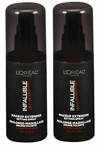L'Oreal Paris Infallible Pro Makeup Extender Finishing Spray 3.4oz. 2-Pack