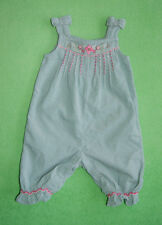 Monsoon mint dungarees with flowers for girl 3-6 months 68cm
