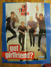 Big Time Rush, Justin Bieber, Four Page Double Sided Fold Out Poster