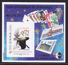 BLOC CNEP N° 63 ** MNH,  SALON DE PRINTEMPS MACON 2013, La Magie des timbres, TB