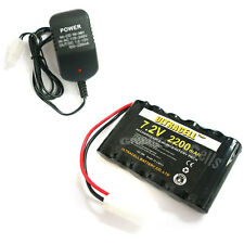 1 x 7.2V 2200mAh NI-MH Rechargeable Battery Pack Tamiya + Charger 808 US Plug