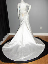 CUSTOM DESIGNER CORSET WEDDING GOWN  DRESS 6 PEARLS SEQUINS PRINCESS FORMAL NWT