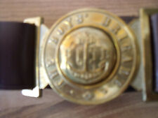 "Boys Brigade memorabilia Belt and Buckle nearly new, 30"" waist  with name on tab"