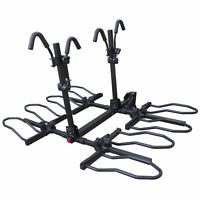 4 Bike Hitch Mounted Platform Rack w/ Tilting For Standard, Electric & Fat Tire