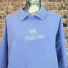 Canton USA Woman Sweater Size XXL  Catalina Island Light  Purple